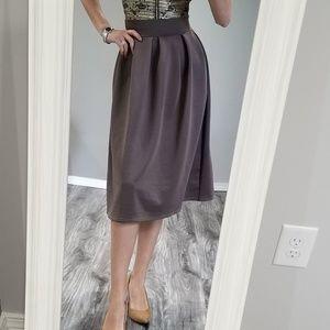 Dresses & Skirts - A line midi tan skirt for everyday
